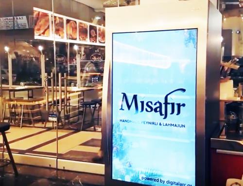 Το πρώτο ψυγείο-οθόνη στο Misafir Restaurant
